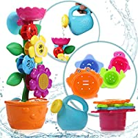 OleOletOy Baby Bath Toy- With 4 Colored Stacking Cups; Best Bathtime Fun Toys with Suction Cups for Bathtub- Kids BPA-Free Water Toy