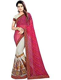 Women's Clothing Saree Designer Party Wear Buy Online In Low Price Sale Offers Pink Colour Art Silk Half And Half...