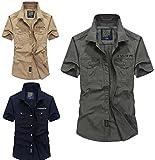 Lovezhou Herren Sommer Baumwolle beiläufige Lose kurzärmelige Revers Shirt