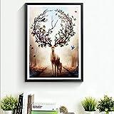 MINRAN DECOR A Druck Poster Kunstdruck – elk 74280 – Modern Art canvas print - Canvas print stretched on a frame als moderne Wanddekoration, 2, 50x70cm