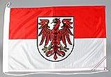 Bootsflagge Brandenburg 30 x 45 cm in Profiqualität Flagge Motorradflagge