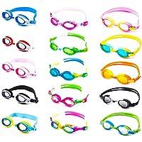 Schwimmbrille für Kinder inkl. Transportbox + Anti-Beschlag-Schutz + UV Schutz + verstellbares Silikonband | bis ca. 12Jahre / perfekte Passform | Chlorbrille Wasserbrille Kinderschwimmbrille