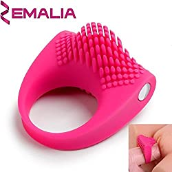 Anillo Vibrador para Prolongar la Eyaculación y Estimular el Clítoris, Funciona con 3 Pilas de Botón Incluídas