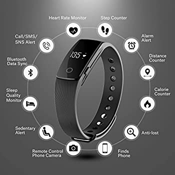 Fitness Tracker, Mpow Heart Rate Monitor Tracker Smart Bracelet Activity Tracker Bluetooth Pedometer With Sleep Monitor Smartwatch For Iphone Samsung & Other Android Or Ios Smartphones For Adults Kids 1