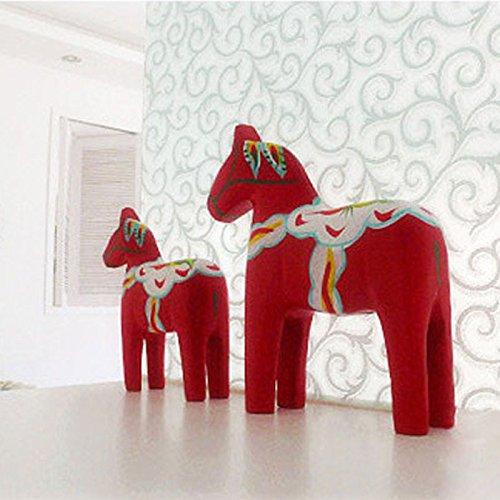 frixie (TM)-Vogue gesso rosso svedese Svezia cavallo Dala nuovo design decoration # (Svezia Dala Cavallo)