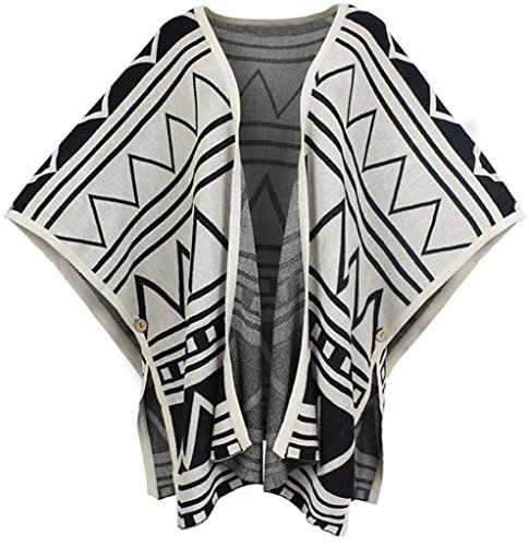 Gillbro Loose Batwing Sleeve Shawl Cardigan tricot¨¦ F