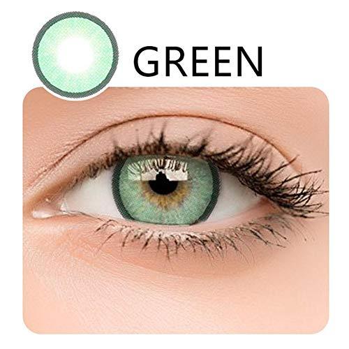 Kontaktlinsen, 2PCS Kontaktlinsen für große und weiche Augen, Augen vergrößern Damen-Make-up, Farbige Kontaktlinsen