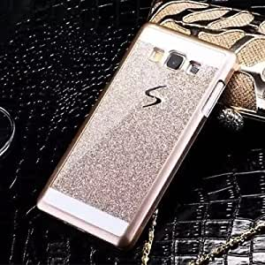 R.I's Luxury Sparkling Hard Back Case Cover For Samsung Galaxy J7 2016 (Gold)