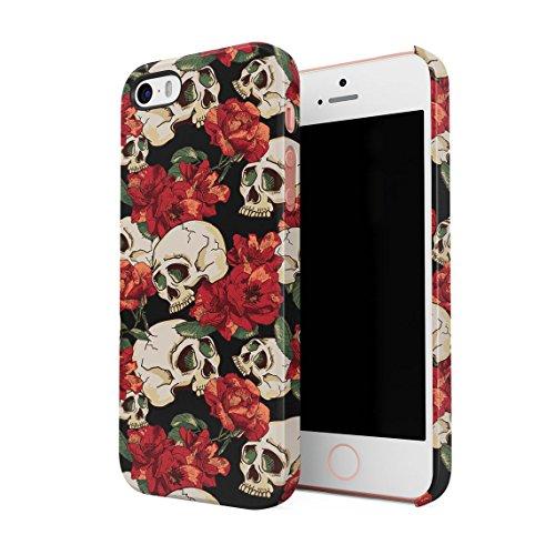 Schwarz & Weiß Realistic Human Skull Card Dünne Rückschale aus Hartplastik für iPhone 7 & iPhone 8 Handy Hülle Schutzhülle Slim Fit Case cover Grunge Skulls