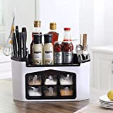Wuudi Küche Essential Mehrere Funktion Kunststoff Speisewürze Aufbewahrungsbox Grün Serie Rot Rot Middle