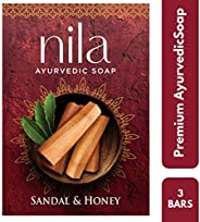 Nila Ayurvedic Soap Sandal & Honey 75g(Pack O