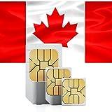 travSIM Kanada Prepaid Daten SIM Karte + 100MB für 7 Tage - Standard,Micro & Nano SIM