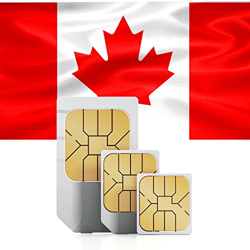 travSIM Kanada Prepaid Daten SIM Karte + 1GB für 30 Tage - Standard,Micro & Nano SIM - Kanada Micro-sim-karte