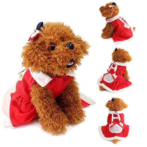 Katze Weihnachten Santa Claus Kleid Kleidung Kostüm Mantel Bekleidung-S ()