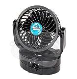 """Oszillierender Kfz-Ventilator """"Delux 12"""", 12 V, zur Befestigung am Armaturenbrett, für Wohnwagen, Boot, kleiner Lüfter"""