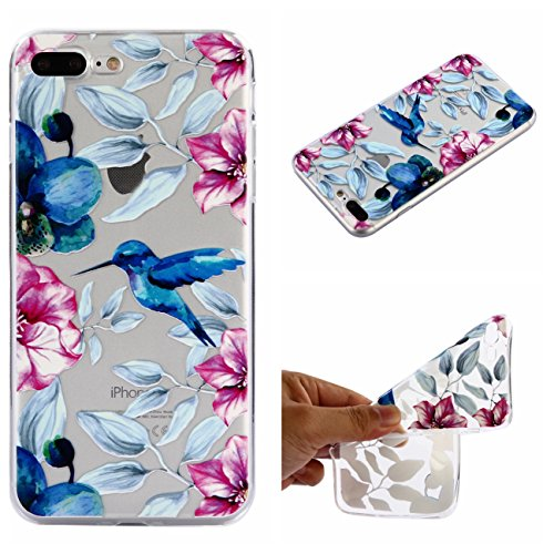 iPhone 7 Plus Hülle, Voguecase Silikon Schutzhülle / Case / Cover / Hülle / TPU Gel Skin für Apple iPhone 7 Plus/iPhone 8 Plus 5.5(Teppich 12) + Gratis Universal Eingabestift Specht