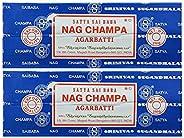 Satya Sai Baba Nag Champa Agarbatti Pack of 2 Incense Sticks Boxes 250gms Each Hand Rolled Agarbatti Fine Qual