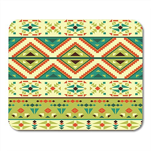(Mouse Pads Chevron Green Abstract Colorful Aztec Pattern Orange American Color Mouse Pad for notebooks,Desktop Computers mats 7.08 (L)x 8.66 (W) inch Office Supplies)