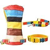 Rrimin Colorful Soft Pet Dog Harness Vest Rope Chest Strap Set Collar Leads Leash For Walking Training