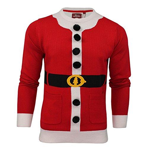 Brave Soul Herren Pullover für Weihnachten Buddy Santa Suit