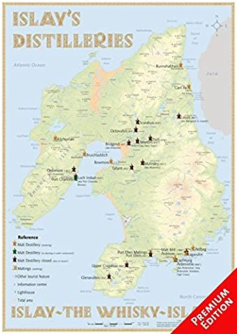 Whisky Distilleries Islay - Poster 42x60cm - Premium Edition: The