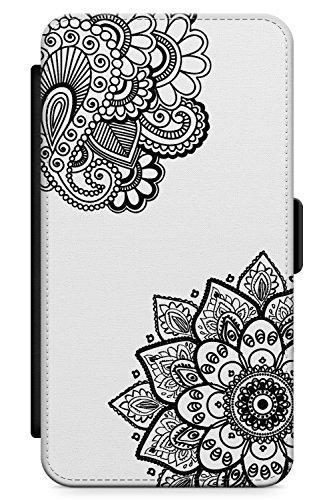 Case Warehouse iPhone 4 / 4s Schwarze Henna Floral Schutz Gummi Handyhülle TPU Bumper Mandala Mehndi Blumen Spitze Tatoo