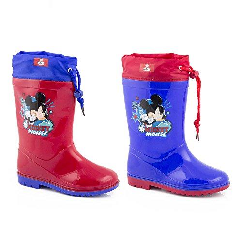 Disney Mickey Mouse Regenstiefel Gr. 22 - 32 Kinder Gummistiefel Maus Blau