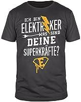 Ich bin Elektriker was sind deine Superkräfte - Herren T-Shirt - verschiedene Farben - Größen S-3XL