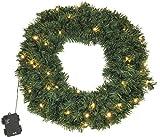 Kranz Tanne 50 cm LED Tannenkranz Türkranz Kunststoff 200 Äste Weihnachtsdeko