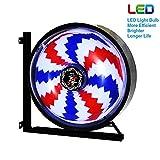 YOHL Barber Pole Led Light,barbierstab Leuchtende Lampe Salon Licht Windmühle Schild Rotierend Friseur Pole Rot Weiß Blaue Streifen Wasserdichte Wandleuchte 45cm/17.7in [Energy Class A],Figure5
