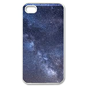 Alam85 Milky Way IPhone 4/4s Case Milky Way Galaxy Design for Men, Cute Iphone 4s Cases for Teen Girls, {White}