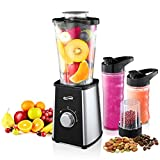 Housmile Blender, Mixer & Food Processor, Ice Crusher Grinder & Juicer, 1.2L Smoothie