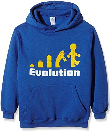 Touchlines Kinder Kapuzen Sweatshirt Evolution, royal, 134/146, KK130 (Kinder-sweatshirt Affe)