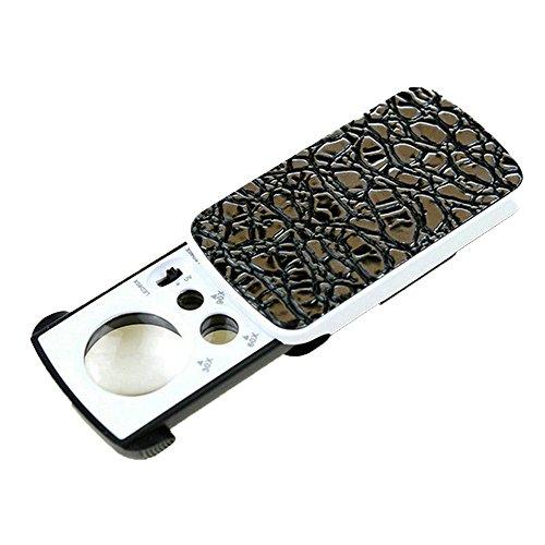 Magnifier-fyxd Fyxd Portable Vergrößerungsglas LED Pull Vergrößerungsspiegel mit Licht 30/60/90 Mal Schmuck Antik Schätzung Geld Detektor UV-Licht Muttertag Vatertag Geschenk