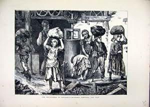 1871 Enfants de l'Angleterre de Briqueteries Portant la Copie d'Argile