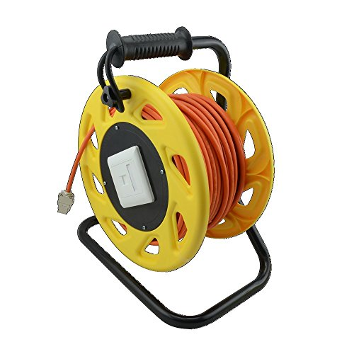 LogiLink CQ5090S Netzwerk Kabeltrommel CAT7A, S/FTP, RJ45 Keystone Buchsen (1200 MHz, 90m) orange -