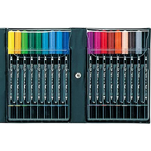 Pentel twin color pen 18 colors set SCW-18 (japan import)