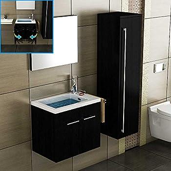 Badmöbel unterschrank  Badezimmer Möbel Becken mit Unterschrank Spiegel Waschplatz ...