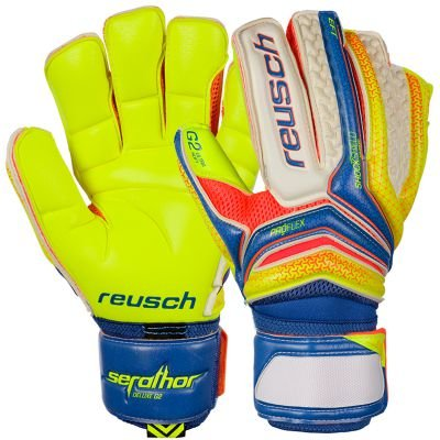 Guante Serathor Deluxe G2 Dazzling blue-Safety yellow Talla 8,5