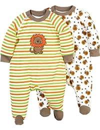 Baby Butt Schlafanzug 2er-Pack mit Druckmotiv Löwe