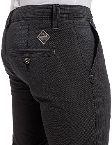 Timezone Herren Hose Curtistz Slim Chino Pants Schwarz (black minimal check 9185)