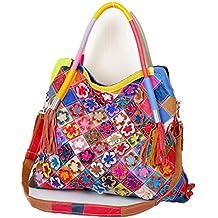 55ec085485ee5 Eysee Handtasche Damen Leder-Umhängetasche Damenhandtasche Henkeltaschen  Schultertasche aus echtem Leder bunt 2019 NEU