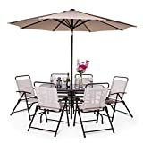 51FZoErhtmL. SL160  - NO.1 GARDEN BillyOh Express 6 Seater Rectangular Metal Garden Furniture Set (Brown) Best price Review