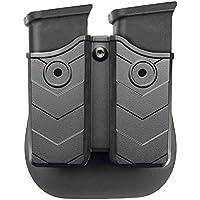 Bolsa de Revista - Funda de la Revista, Bolsa Doble de la Revista con Pinza de Cinturón para Glock/H&K/Smith & Wesson/Ruger/Sig Sauer/Springfield/Taurus/Beretta/CZ/Walther y más, para 9mm/ .40 Cal