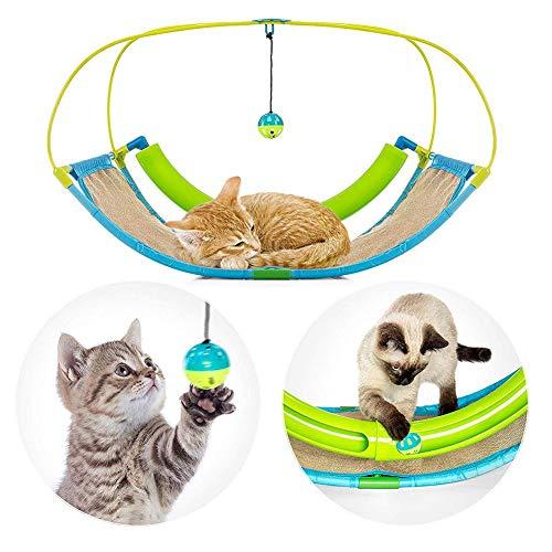Earlyad Katzenspielzeug Multifunktions Hund Katze Mobile Interaktive Aktivität Spielmatte Cat Swing Sofa Sleeping Cradle Bett mit Glocke