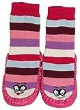 Tobeni 1 paio di calzini del pistone Ringel con suola in cuoio per bambini, Color:Pink;Size:3 Years