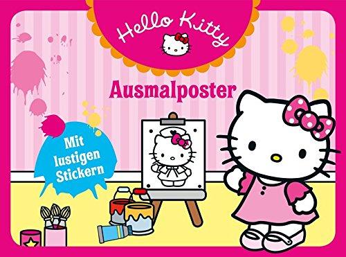 Preisvergleich Produktbild Hello Kitty: Ausmalposter: Mit lustigen Stickern
