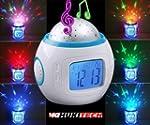 R�veil pour enfant � LED projetant un...