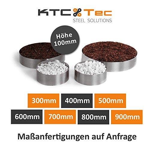 KTC Tec Beetumrandung Pflanzenring Beeteinfassung Edelstahl V2A schraubbar Verschiedene Größen