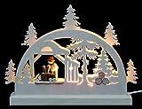 Unbekannt Mini LED Schwibbogen - Holzhacker - 23x15x4,5 cm - Original Erzgebirge Schwibbögen - Michael Müller